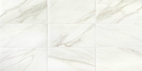 Mirasol Bianco Carrara Matte Floor Tile 12x24 Tiles