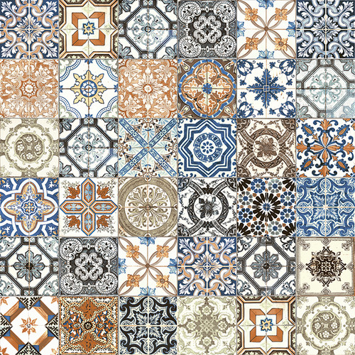 Marrakesh Color Mix Hd Glossy Ceramic 8x8 Tiles Direct Store