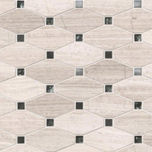 Bayview - Elongated Octagon Mixed Mosaic on 12x12 Sheet