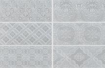 Maiolica - Tender Gray Ceramic Deco Insert Wall Tile 4x10