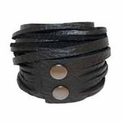 Leather Wrap Bracelet - Ebony