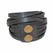 Leather Wrap Bracelet - Stone