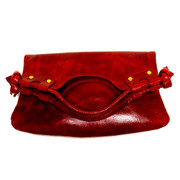 Saba Convertible Clutch - Pomegranate