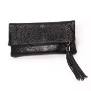 The Jordan Fold-Over Clutch - Onyx