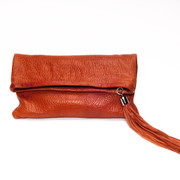 The Jordan Fold-Over Clutch - Terra Cotta