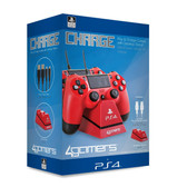 Officially SONY Licensed Dual Charge 'n' Stand RED Playstation 4
