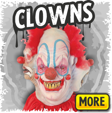 Creepy Clown & Scary Circus Halloween Masks