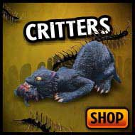 Halloween critters & animals, bats, rats, cats, birds, snakes, and insects!