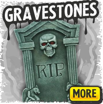 Halloween Cemetery Tombstones & Gravestone Decorations