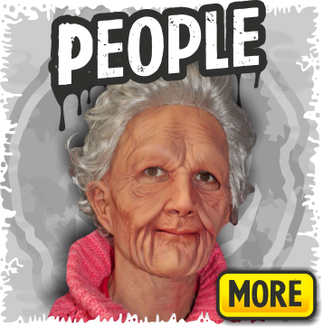 Old People, Grandma & Grandpa Halloween Masks