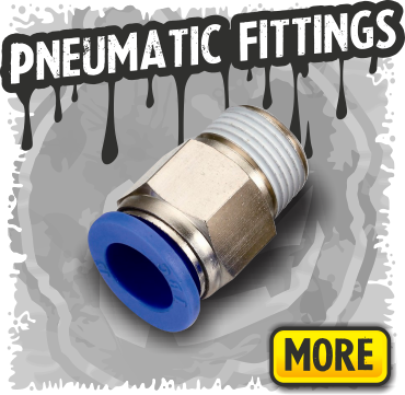 Pneumatic fittings, air hose connectors, splitters, manifolds, push in fittings and more!
