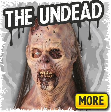 Zombies, Undead & Demon Halloween Masks