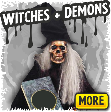 Witch and Demon Halloween Props