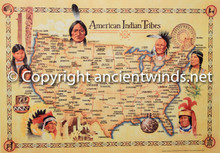 Map of Native American Tribes USA Ancient Winds Flutes