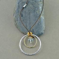 Aqua in Circles Necklace
