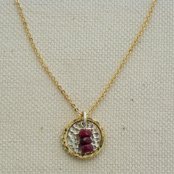Rubies in a Layered Frame Necklace