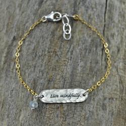"""""""Live Mindfully"""" Bracelet"""