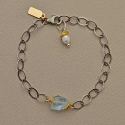 Perched Aquamarine Bracelet