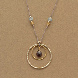Garnet in Circles Necklace