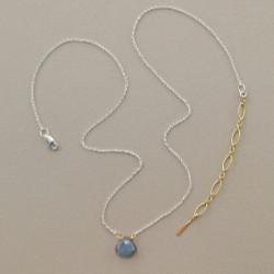 Floating Gemstone Necklace