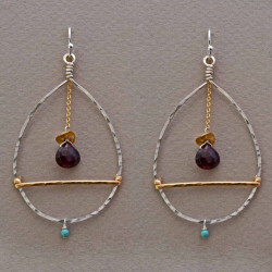 Encompassed Garnet Earrings