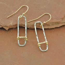 Wrapped Geometric Earrings