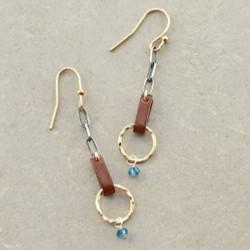 Straps of Gold Earrings