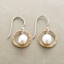 Pearls in Hoops Earrings