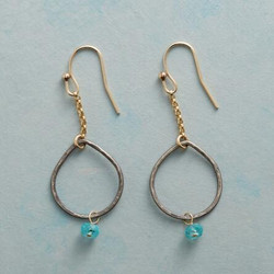 Apatite Exclamation Earrings.