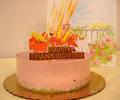 Delicious raspberry mousse cake!