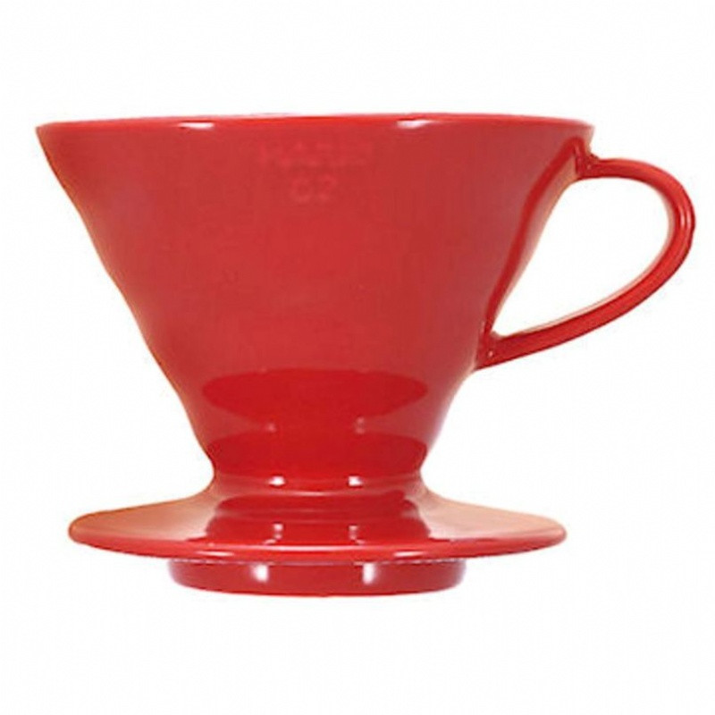 Hario V60 2cup Red Porcelain Dripper