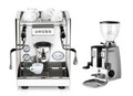 ECM Germany Elektronika (Rotary) and Mazzer Mini Manual Grinder Combo