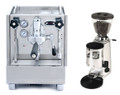 Izzo Alex Duetto III and Mazzer Mini Manual Grinder Combo