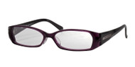 Purple Crystal Front with Black Temples (C2)