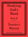 Studying God's Word Book E: Genesis to Ruth Teacher's Manual
