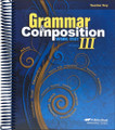 Grammar and Composition III, 5th edition - Teacher Key