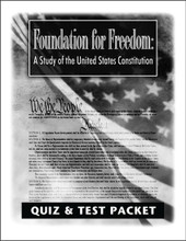 Foundation for Freedom Quiz and Test Packet