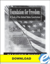 Foundation for Freedom Teacher's Manual - PDF Download