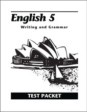 English 5: Writing and Grammar, 2nd edition - Test Packet