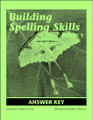 Building Spelling Skills Book 1 Answer Key, 2nd edition