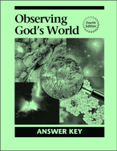 Observing God's World, 4th edition - Answer Key
