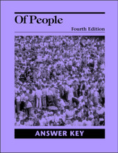 Of People Literature, 4th edition - Answer Key