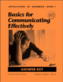 Applications of Grammar Book 1: Basics for Communicating Effectively - Answer Key