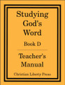 Studying God's Word Book D Teacher's Manual