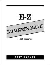E-Z Business Math - Test Packet