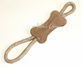 ABO Gear 100% Natural Water Buffalo & Jute Large Tug Bone Dog Toy