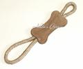 ABO Gear 100% Natural Water Buffalo & Jute Large Tug Bone Dog Toy