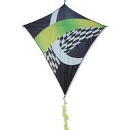 """65"""" Borealis Sky-Shark Diamond Kite - Neon Tronic"""