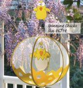Wind Spinning Globe - Spinning Chicks