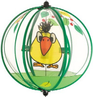 Wind Spinning Glass Ball Birdie